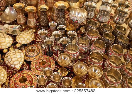 Verities Of Traditional Crafted Decoration Metal Vases Of India