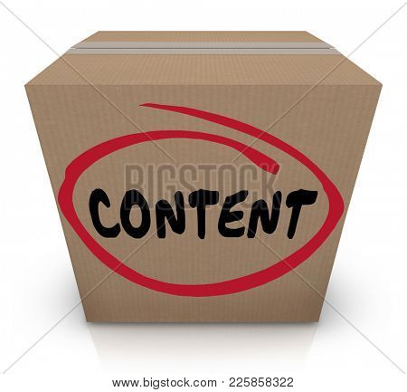 Content Package Cardboard Box Delivery 3d Illustration