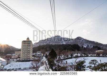 Hakodate, Japan, January 28, 2018: Mount Hakodate Is Popular Tourist Destination With  Scenic View A