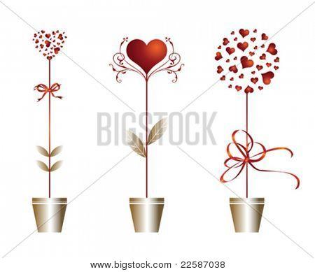 Valentine's day card. Vector illustration.
