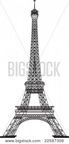 Eiffel Tower, illustration. poster