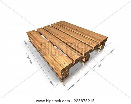 3d Illustration Of An Empty Wooden Pallet