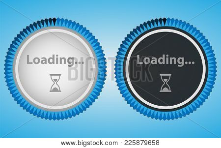 Circular Loading In White And Black Style. Web Preloader Vector Icon For Web Design. Progress, Proce