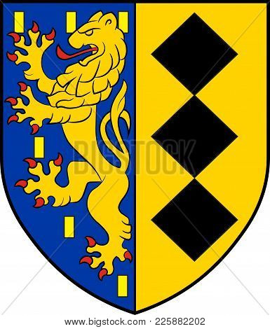 Coat Of Arms Of Burbach Is A Municipality In The Siegen-wittgenstein District, In North Rhine-westph