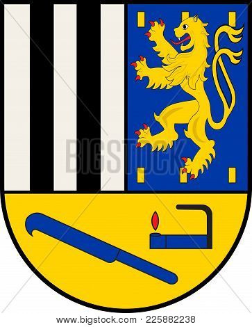Coat Of Arms Of Siegen-wittgenstein Is A District In The Southeast Of North Rhine-westphalia, German