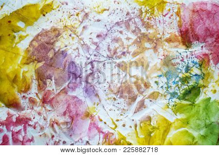 Water Colour Brush Strokes Design Graphic Effect Texture