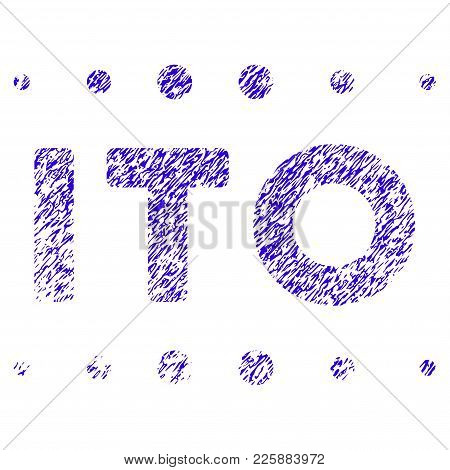 Grunge Ito Caption Rubber Seal Stamp Watermark. Icon Symbol With Grunge Design And Dirty Texture. Un