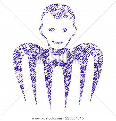 Grunge Croupier Monster Rubber Seal Stamp Watermark. Icon Symbol With Grunge Design And Unclean Text