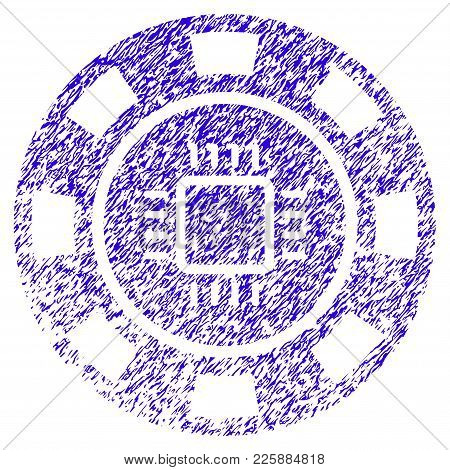 Grunge Cpu Casino Chip Rubber Seal Stamp Watermark. Icon Symbol With Grunge Design And Dirty Texture
