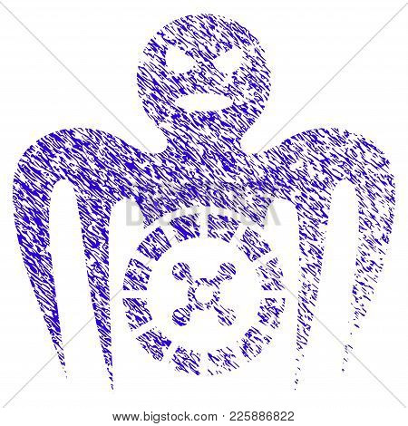 Grunge Roulette Spectre Monster Rubber Seal Stamp Watermark. Icon Symbol With Grunge Design And Scra