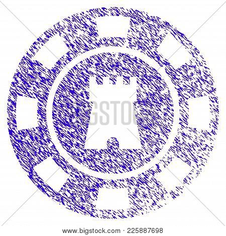 Grunge Bulwark Casino Chip Rubber Seal Stamp Watermark. Icon Symbol With Grunge Design And Dirty Tex
