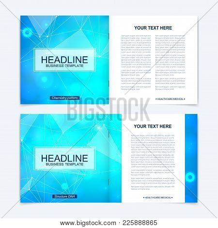Scientific Templates Square Brochure, Magazine, Leaflet , Flyer, Cover, Booklet, Annual Report. Scie