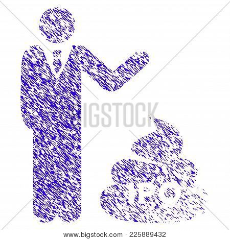 Grunge Businessman Show Ipo Shit Rubber Seal Stamp Watermark. Icon Symbol With Grunge Design And Unc