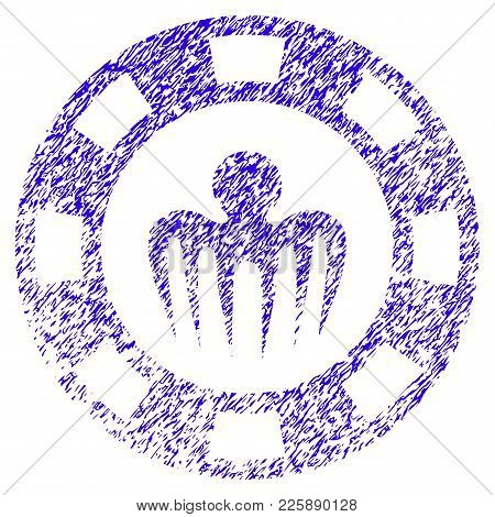 Grunge Monster Casino Chip Rubber Seal Stamp Watermark. Icon Symbol With Grunge Design And Unclean T