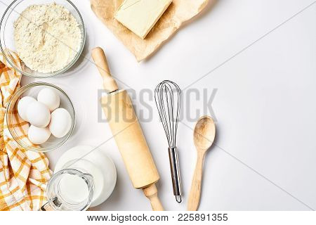 Preparation Of The Dough. A Measurement Of The Amount Of Ingredients In The Recipe. Ingredients For