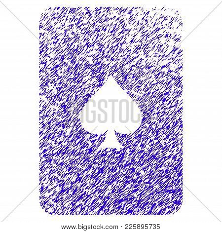 Grunge Peaks Playing Card Rubber Seal Stamp Watermark. Icon Symbol With Grunge Design And Dirty Text