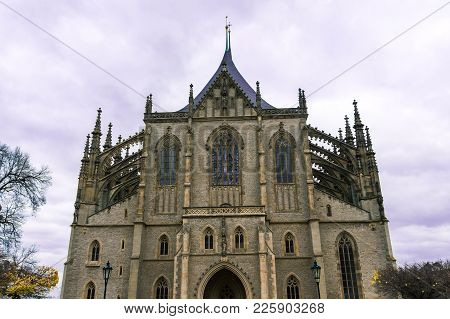 St. Barbara Cathedral In Kutna Hora, Bohemia, Czech Republic. Concept Of World Travel, Sightseeing A