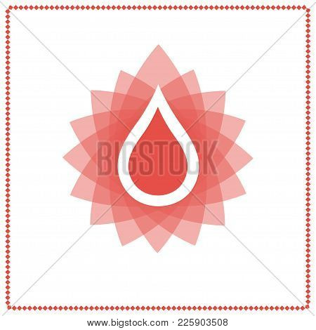 Blood Drop Icon, Vector Illustration Care Concept