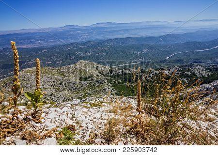 Mountain View, Croatia, Dalmatia, Biokovo National Park Landscape