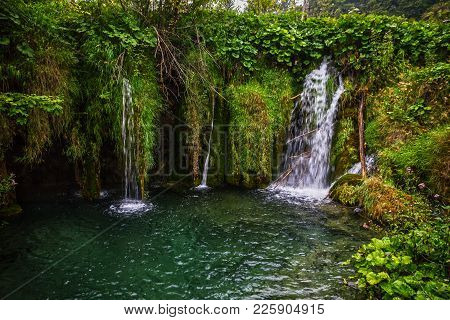 Croatia Plitvice Lake, Natural Travel Background, National Park