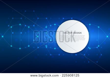 Abstract Technological And Scientific Background With Molecule Dna