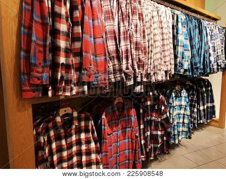 Rishon Le Zion, Israel- December 17, 2017: Inside The Clothing Store At Azrieli Department Store In