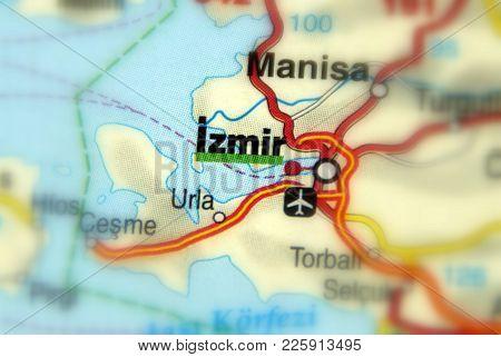 Izmir, A Large Port City In Turkey.
