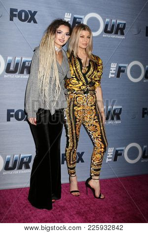 LOS ANGELES - FEB 8:  Zhavia, Fergie at the