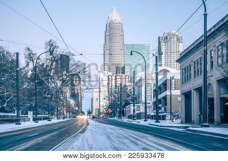 Rare Winter Scenery Around Charlotte North Carolina