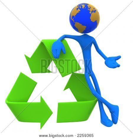 Earth Day Recycling Concept