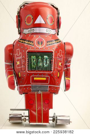 big red bad bot  looking at you