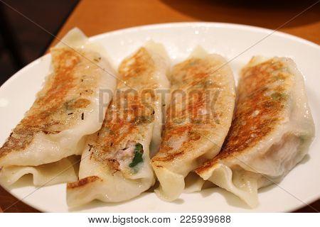 Dim Sum Call Gyoza, Asian Tradition Food