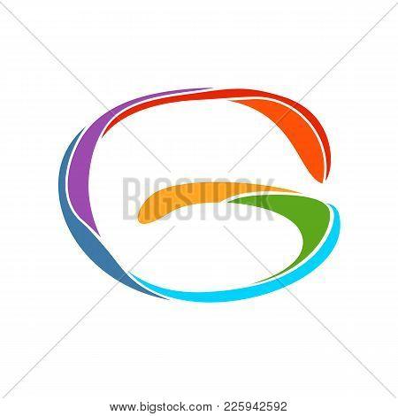Fun Colorful Paint Initial G Wordmark Vector Symbol Graphic Logo Design