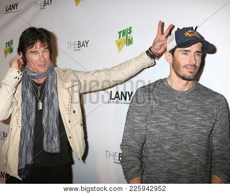 LOS ANGELES - FEB 6:  Ronn Moss, Brandon Beemer at the 7th Annual  LANY Entertainment Mixer at 33 Taps Hollywood  on February 6, 2018 in Los Angeles, CA