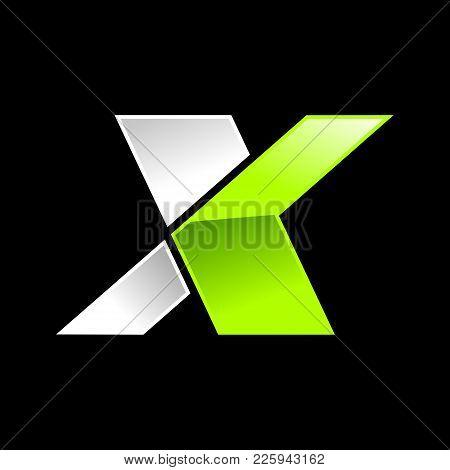 Modern Initial X Wordmark Vector Symbol Graphic Logo Design