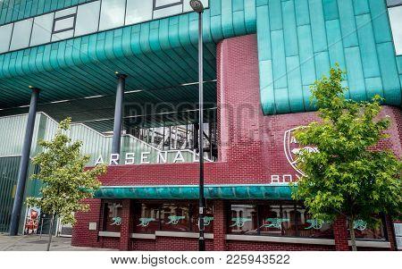 Arsenal Stadium, London, United Kingdom - June 26, 2016 : Arsenal Stadium Club Box Office, London