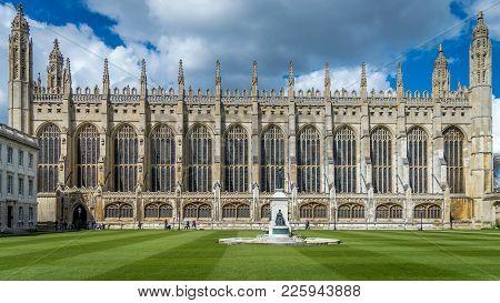 Cambridge, England - April 2, 2016 : King's College Founded By King Henry Vi In 1441