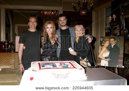 LOS ANGELES - FEB 2:  Ari Soffer, Tracey Bregman, Austin Recht, Suzanne Ll at the Tracey Bregman 35th Anniversary on the Young and the Restless at CBS TV City on February 2, 2018 in Los Angeles, CA