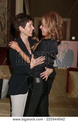 LOS ANGELES - FEB 2:  Tracey Bregman, friend at the Tracey Bregman 35th Anniversary on the Young and the Restless at CBS TV City on February 2, 2018 in Los Angeles, CA