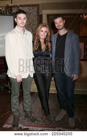 LOS ANGELES - FEB 2:  Landon Recht, Tracey Bregman, Austin Recht at the Tracey Bregman 35th Anniversary on the Young and the Restless at CBS TV City on February 2, 2018 in Los Angeles, CA