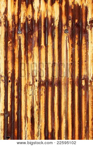 rusty corrugated iron