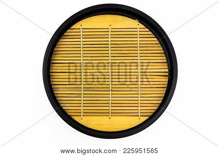 Wooden Circle Tray In Japanese Style