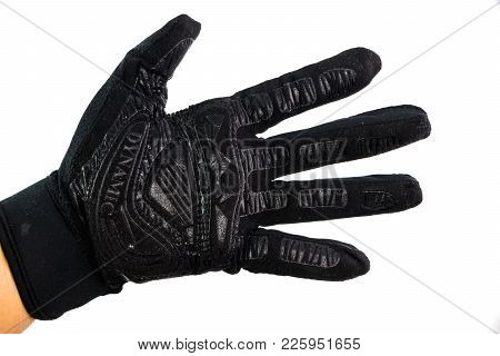 Black Leather Sportwear Glove