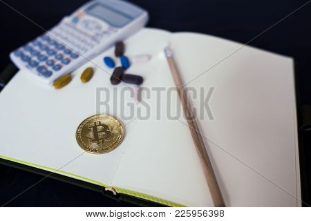 Bitcoin Cryptocurrency Gold Payment For Drugs Or Medicine