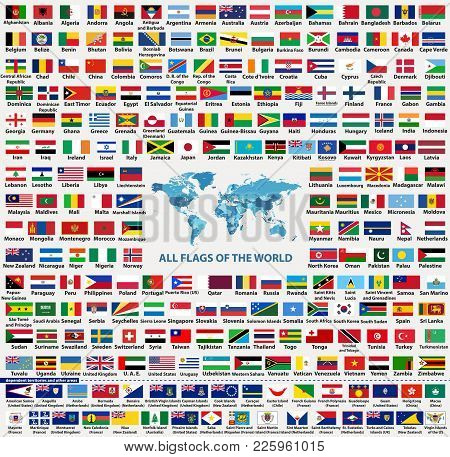 Vector Set Of All World Countries Flags (sovereign States, Dependent, Overseas Territories And Other