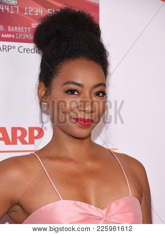 LOS ANGELES - FEB 05:  Betty Gabriel arrives for the 2018 Movies for Grownups Awards on February 5, 2018 in Beverly Hills, CA