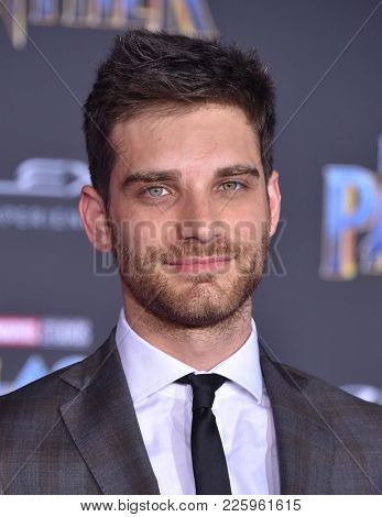 LOS ANGELES - JAN 29:  Jeff Ward arrives for the 'Black Panther' World Premiere on January 29, 2018 in Hollywood, CA