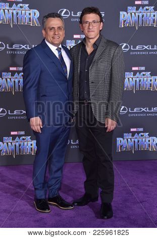 LOS ANGELES - JAN 29:  Anthony Russo and Joe Russo arrives for the 'Black Panther' World Premiere on January 29, 2018 in Hollywood, CA