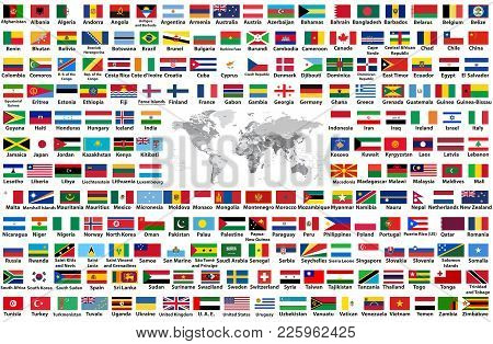 Vector Set All World Vector Photo Free Trial Bigstock