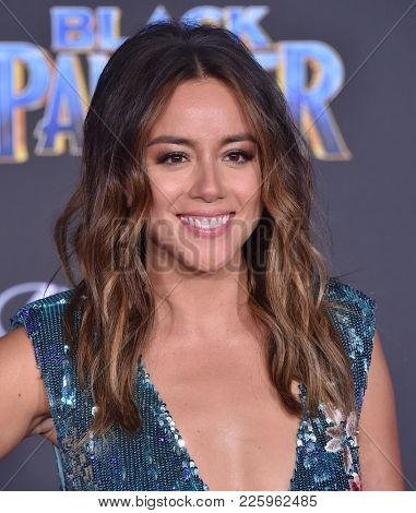 LOS ANGELES - JAN 29:  Chloe Bennet arrives for the 'Black Panther' World Premiere on January 29, 2018 in Hollywood, CA